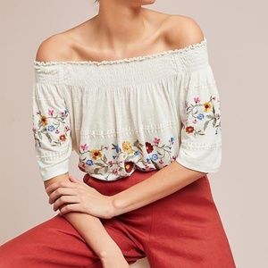 Anthropologie WASHOE OFF-THE-SHOULDER BLOUSE new